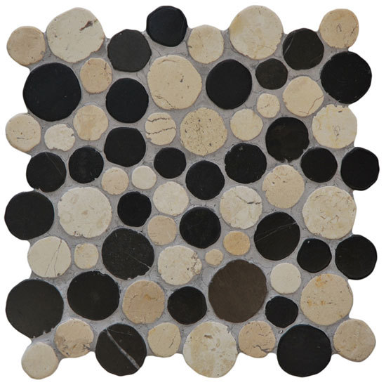 Round Dia M Biancone Silva de Mosaic Miro Production | Mosaicos