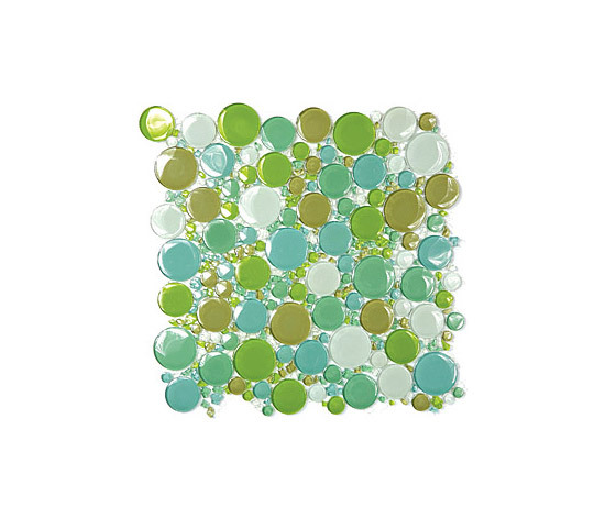 Bubbles Glass Mosaic M03 de EVIT | Mosaïques verre