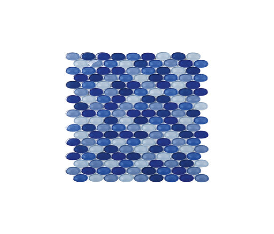 Oval Glass Mosaic M05 de EVIT | Mosaïques