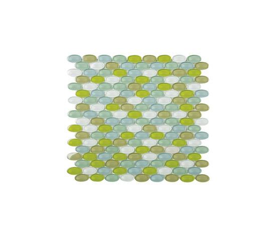 Ovale mosaico di vetro M03 di EVIT | Mosaici