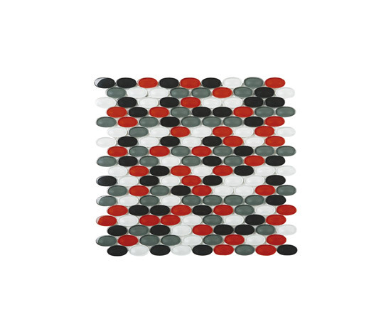 Ovale mosaico di vetro M04 di EVIT | Mosaici