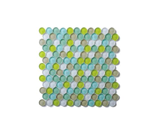Rotonda mosaico di vetro M03 di EVIT | Mosaici