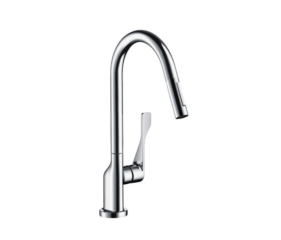AXOR Citterio Single Lever Kitchen Mixer with pull-out spray DN15 by AXOR | Kitchen taps