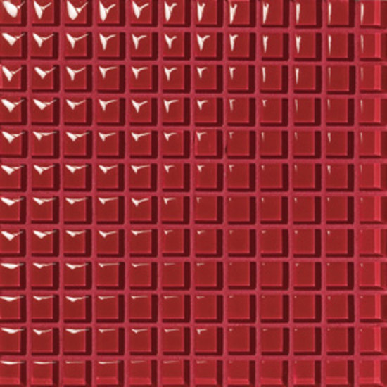 VF7 Rosso Lucido 2,3x2,3 cm by VITREX S.r.l. | Mosaics