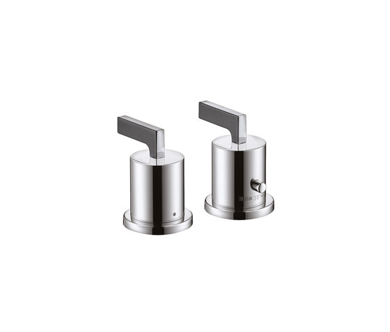 AXOR Citterio 2-Hole Thermostatic Rim-Mounted Bath Mixer with lever handles DN15 by AXOR | Bath taps