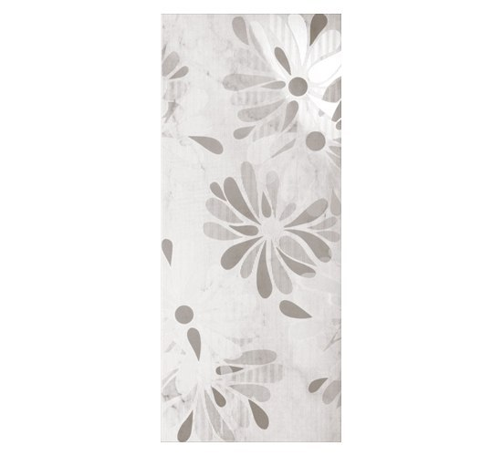 Luxury Flowers Bianco Dec 30,5x72,5cm* by Ceramica Magica | Ceramic tiles