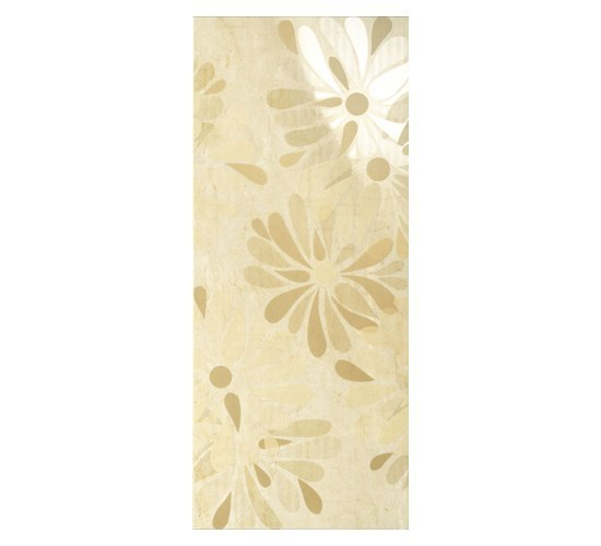 Luxury Flowers Beige Dec 30,5x72,5cm* by Ceramica Magica | Ceramic tiles