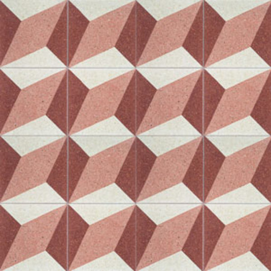 Assonometria terrazzo tile by MIPA | Mineral composite tiles