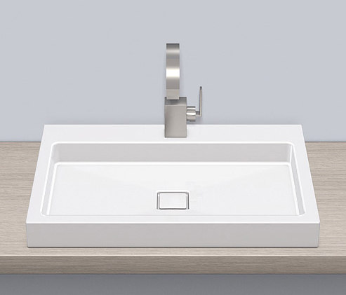 Ab re700h 2 wash basins from alape architonic for Embellecedor rebosadero lavabo
