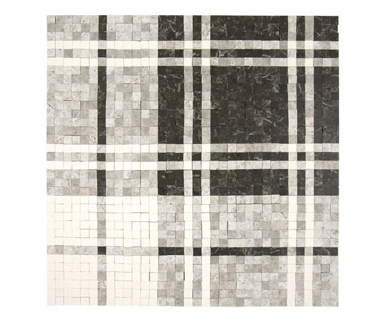 Balmoral Plaid Dark Olive de AKDO | Mosaïques