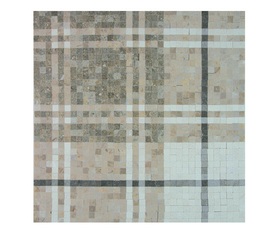 Balmoral Plaid Pistachio Green de AKDO | Mosaicos de piedra natural