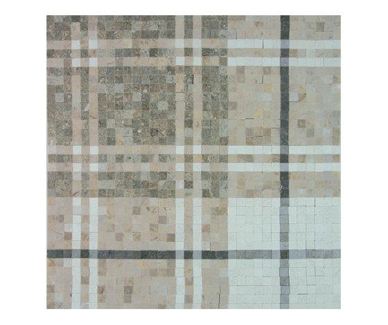 Balmoral Plaid Pistachio Green by AKDO | Natural stone mosaics