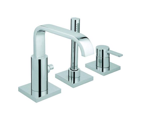 Allure Three-hole single-lever bath combination by GROHE | Bath taps
