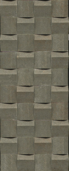 Mosaico Obliqua 23,7x59cm Bronce by Saloni   Ceramic mosaics