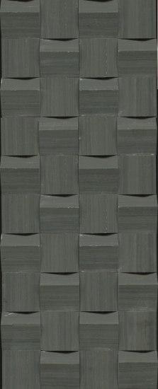 Mosaico Obliqua 23,7x59cm Negro by Saloni | Ceramic mosaics
