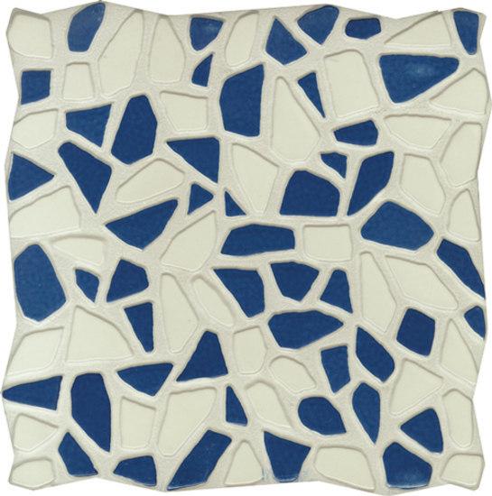 Gemme Del Golfo Bianco e Blu 34x34 di Savoia Italia S.p.a | Piastrelle/mattonelle per pavimenti