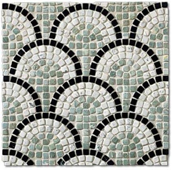 SER034 marble mosaic von I Sassi di Assisi | Naturstein Mosaike