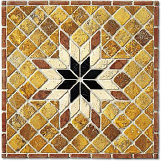 SER065 marble rosone by I Sassi di Assisi | Natural stone mosaics