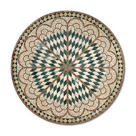 SER187 marble rosone by I Sassi di Assisi | Natural stone mosaics