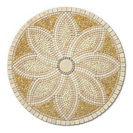 SER135 marble rosone by I Sassi di Assisi | Natural stone mosaics
