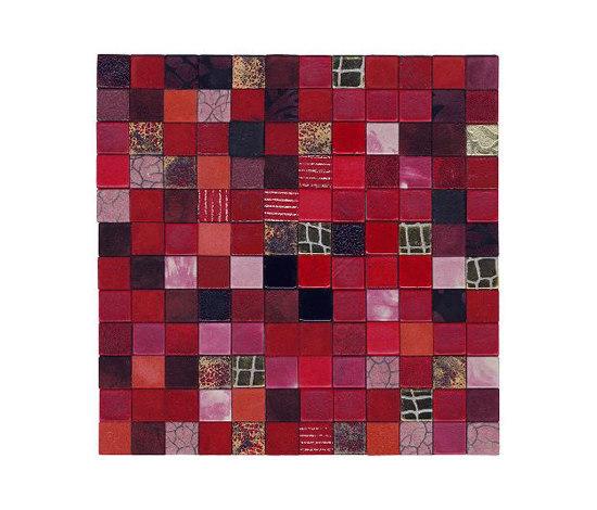 Forza del Colore rosso de Studio Art | Mosaïques en cuir