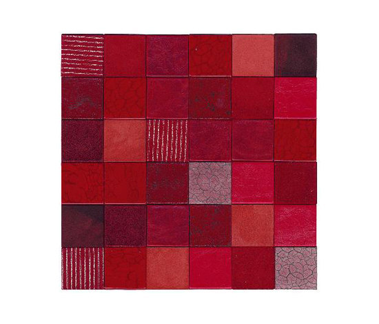 Forza del Colore rosso by Studio Art | Leather mosaics