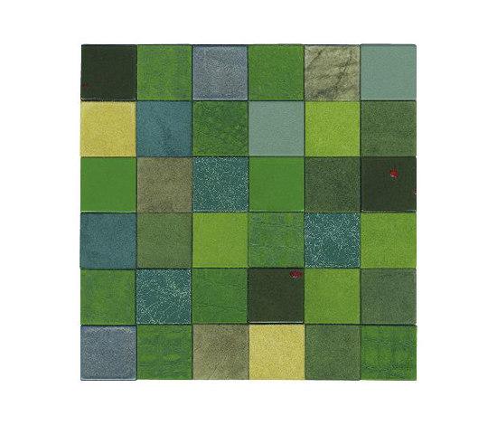 Forza del Colore verde di Studio Art | Mosaici in vera pelle