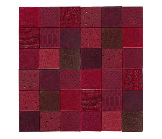 Texture rosso di Studio Art | Mosaici in vera pelle