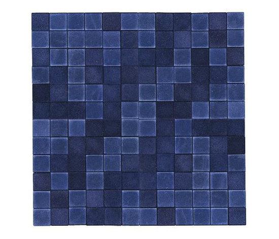 Opaco lucido blu by Studio Art | Natural leather mosaics