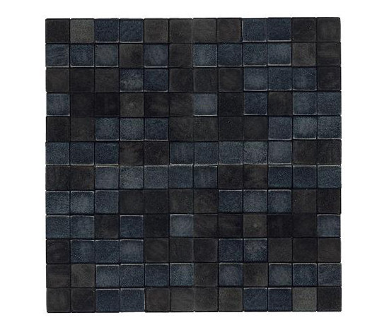 Opaco lucido nero by Studio Art | Leather mosaics