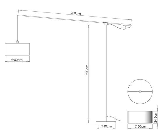 Safari MW22 Floor light by Ghyczy | General lighting