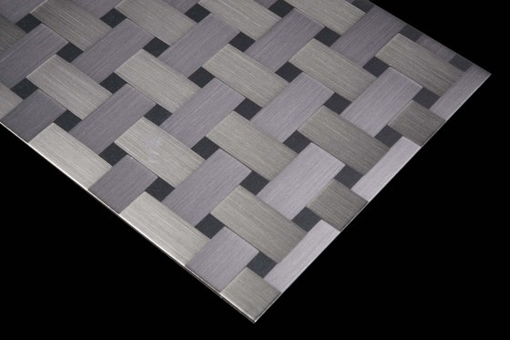 Aluminium | 120 | Carbon by Inox Schleiftechnik | Metal tiles