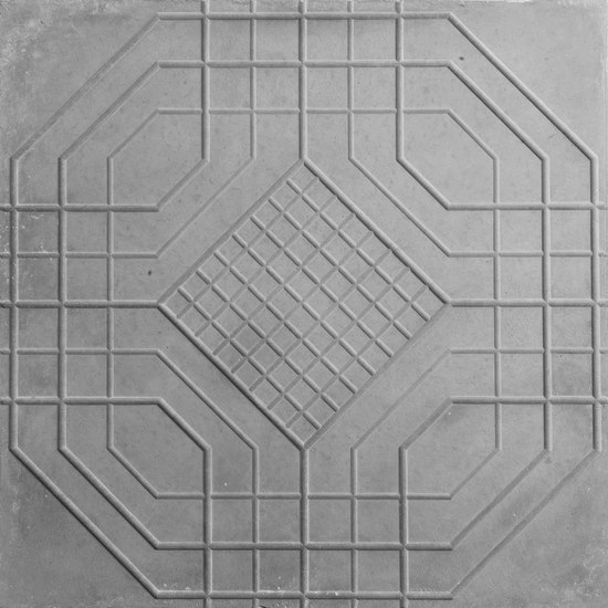 Central Cutout Tile von The Third Nature | Beton/Zement-Bodenfliesen