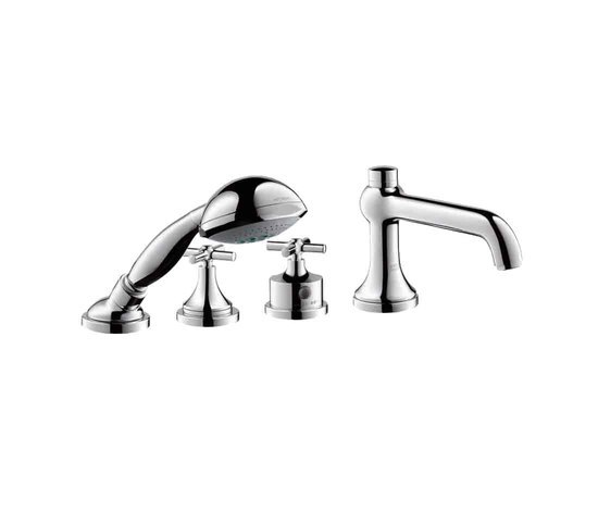 AXOR Terrano 4-Hole Thermostatic Bath Mixer by AXOR | Bath taps