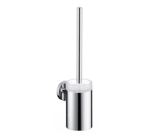 Hansgrohe Logis Spazzola per WC con contenitore in cristallo di Hansgrohe | Portascopino