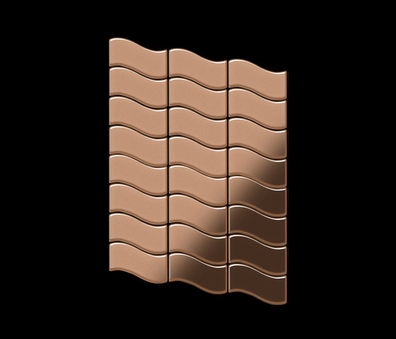 Flux Copper Tiles von Alloy | Metallmosaike