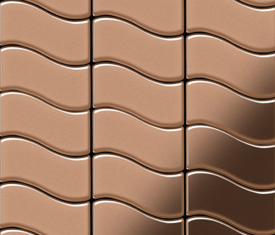 Flux Copper Tiles von Alloy | Metall Mosaike
