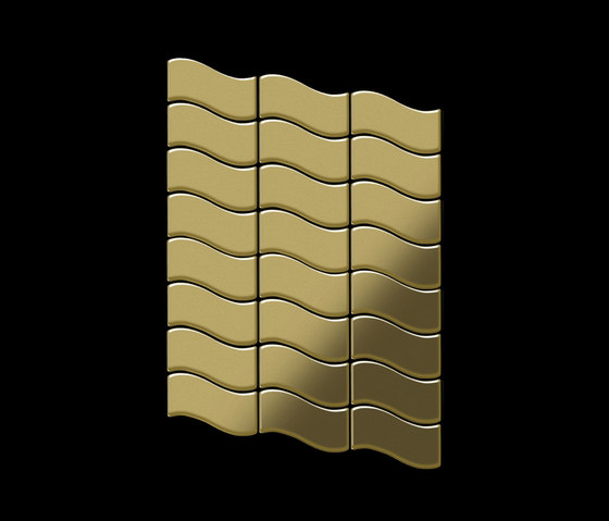 Flux Brass Tiles von Alloy | Metall Mosaike