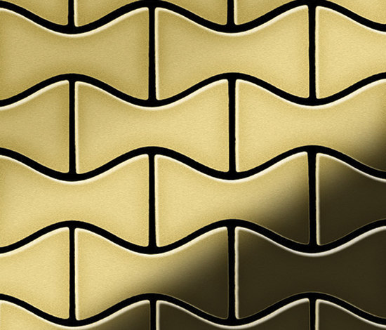 Kismet Brass Tiles von Alloy | Metallmosaike