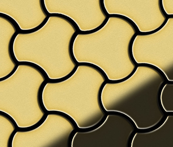 Ubiquity Brass Tiles by Alloy | Metal mosaics