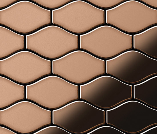 Karma Copper Tiles by Alloy | Metal mosaics