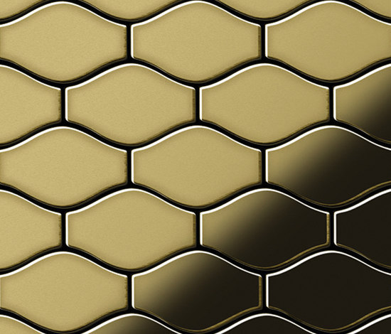 Karma Brass Tiles von Alloy | Metallmosaike