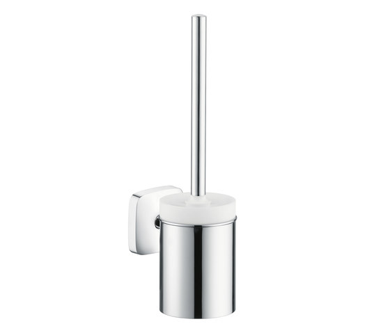Hansgrohe PuraVida Toilet Brush with Ceramic Holder by Hansgrohe | Toilet brush holders