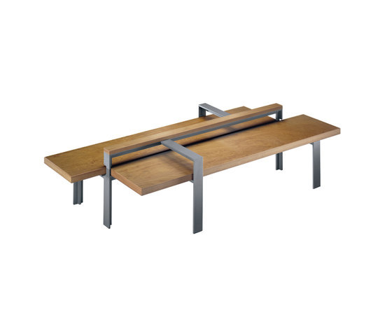 Argo Z double Bench by Hess | Exterior benches