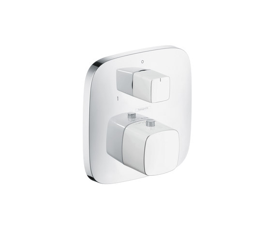 Hansgrohe PuraVida Thermostat for concealed installation with shut-off|diverter valve by Hansgrohe | Shower taps / mixers