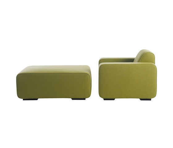 Cream Armchair | Pouf by Palau | Lounge chairs
