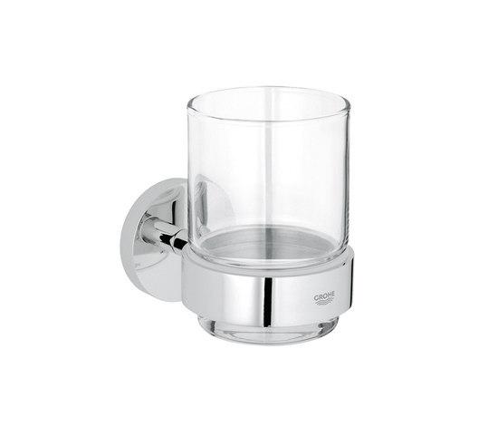 Essentials Halter mit Kristallglas von GROHE | Zahnbürstenhalter