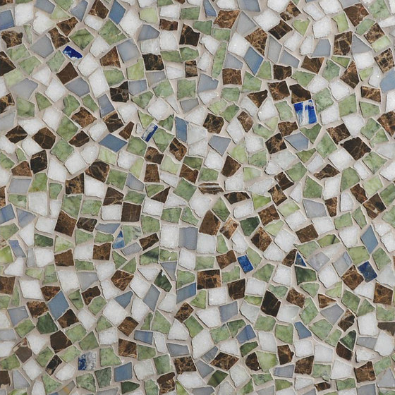 Mosaic Masterworks Cosmos Field-Lazuli Bunting de Complete Tile Collection | Mosaïques