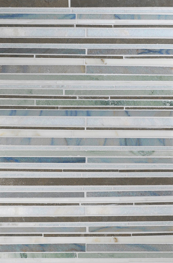 Mosaic Masterworks Random Stripes I de Complete Tile Collection | Mosaïques