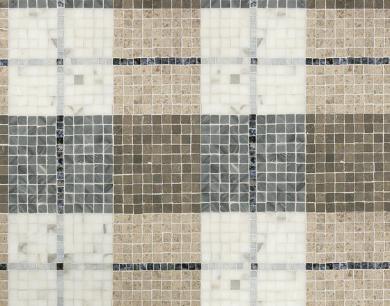 Mosaic Masterworks Tartan Pattern by Complete Tile Collection | Natural stone mosaics